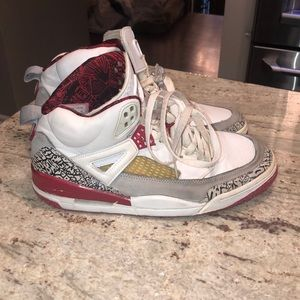 Red, grey and white Mens Jordans